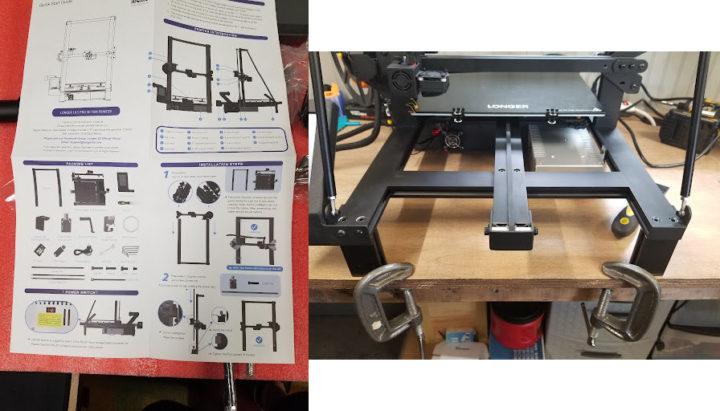 Longer 3d printer assembly