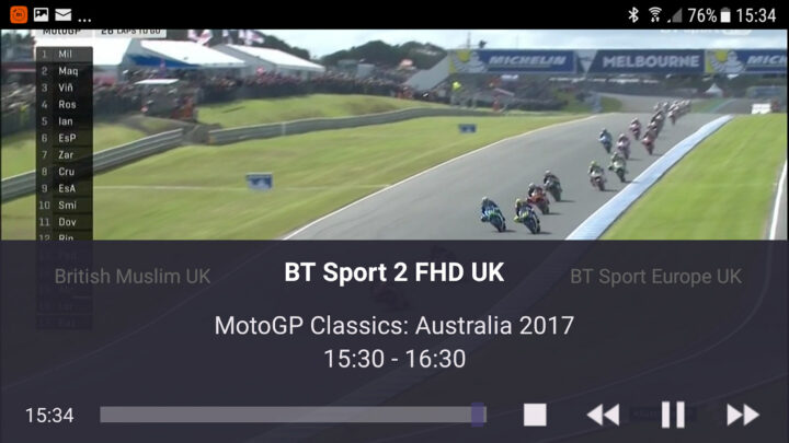 TVMosaic Android app